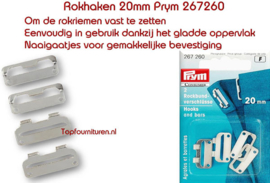 Broek & rokhaken 20 mm zilverkleur 267260 (F)