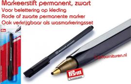 Markeerstift permanent, zwart  (611803)