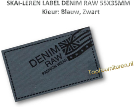 Skai-leren label (63973-01)
