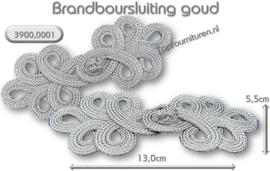 Brandenburgers-sluiting zilver & goud 13cm x 5.5cm