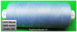 Lichtblauw naaimachinegaren 1000 meter