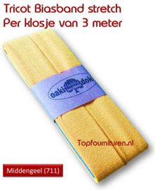 Tricot Biaisband Jersey middengeel