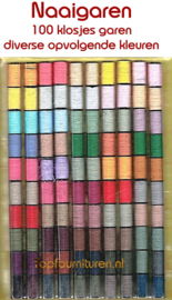 100 klosjes garen diverse kleuren