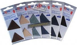Jeans driehoek reparatiedoek opstrijkbaar in diverse kleuren