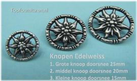 Knopen Edelweiss (platte uitvoering)