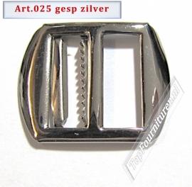 Zilveren gesp 2cm zilver