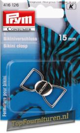 Bikinisluiting metaal 15mm