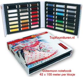 Gütermann notebook 42 klosjes garen 100 meter per stuk