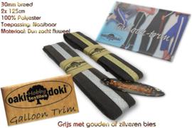 Sierband Galloon-Trim hoofdkleur Grijs