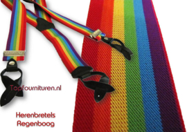 Herenbretels Regenboog met bretelleertjes