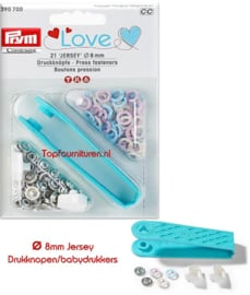 Drukknopen/babydrukkers Prym 390700 Love 3 kleur