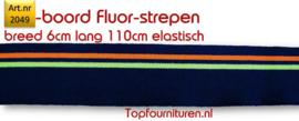 Rib-Boord Blauw-fluorgeel, fluororanje(2049)
