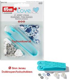 Drukknopen/babydrukkers Prym 390702 Love 3 tinten