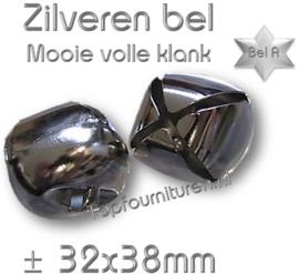 Zilveren bel, volle klank Ø 38mm (staffelkorting)