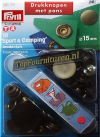Sportknopen oud messing 15mm Prym 390199