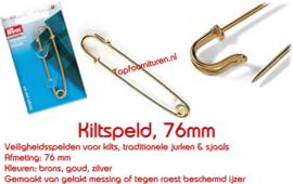 Kilt speld 76mm Prym Goud 071603 brons 071602 Zilver 081605