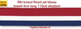 Rib-boord rood wit blauw (2520)