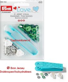 Drukknopen/babydrukkers Prym 390703 Love 3 tinten
