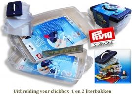 Aanvulling clickbox 1 en 2 literbakken