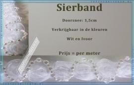 (SB800) Sierband wit & ivoor 1,5 cm doorsnee