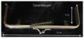 tassenbeugel/frame 15cm zilver