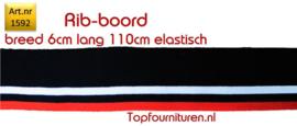 Rib-Boord donkerblauw-wit rood (1592)