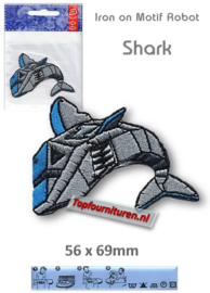 Iron on Motif Robot - SHARK