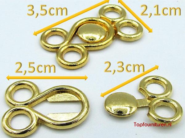 Siersluiting goud & bronskleur