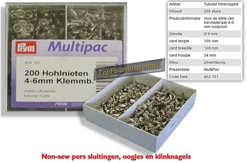 Holle klinknagels 4-6mm 200 stuks in voordeelverpakking Prym 403161