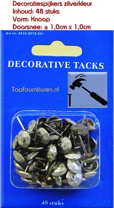 Decoratiespijkers zilverkleur