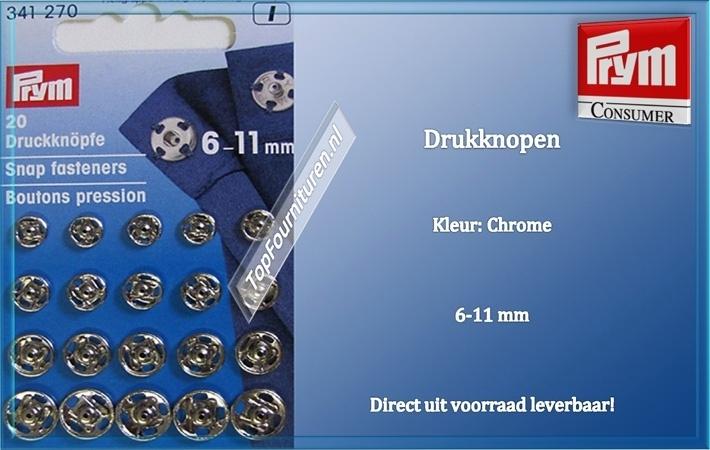 drukknopen 6-11 mm chroom 341270 (I)