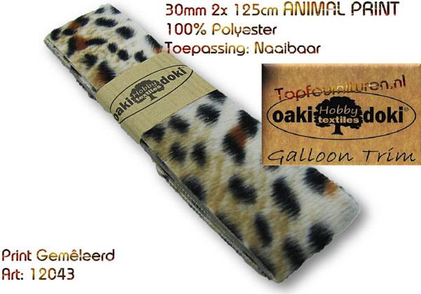 Sierband Galloon-Trim Animalprint