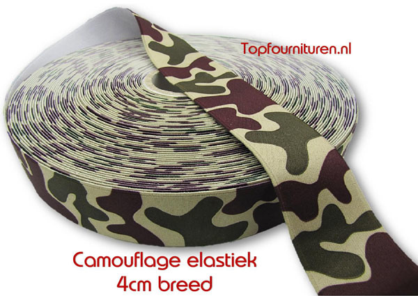 Camouflage elastiek 4cm breed