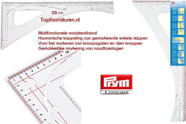Kleermakersliniaal multifunctioneel helder kunststof Prym 611499