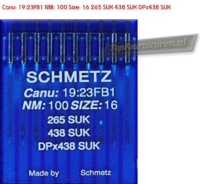 Canu: 19:23FB1 NM: 100 Size: 16 265 SUK 438 SUK DPx438 SUK