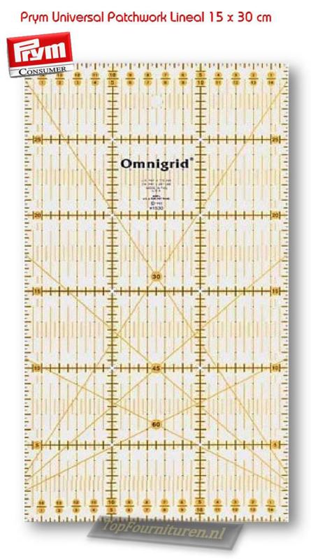 Omnigrid universele liniaal 15 x 30 cm Prym 611307