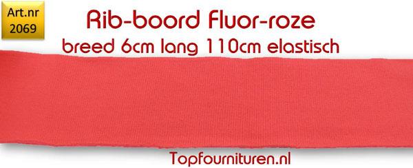 Rib-Boord Fluor roze (2069)