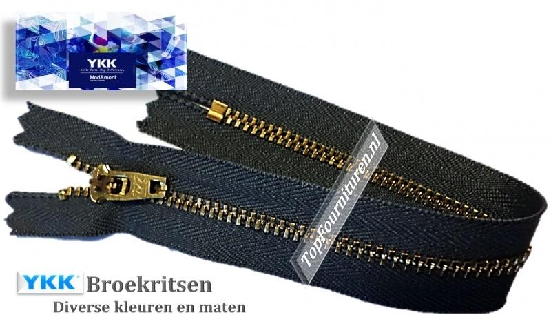 YKK Broek rits koper 18 cm