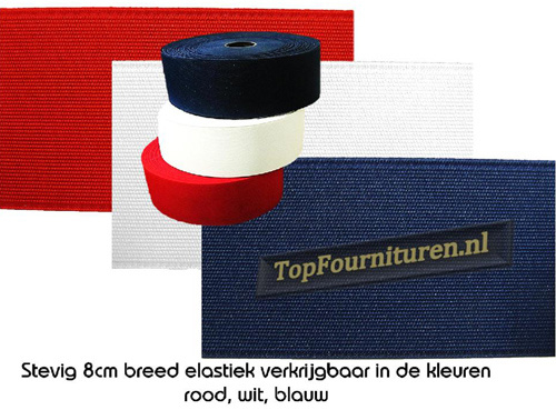 Sterk bandelastiek 8cm breed
