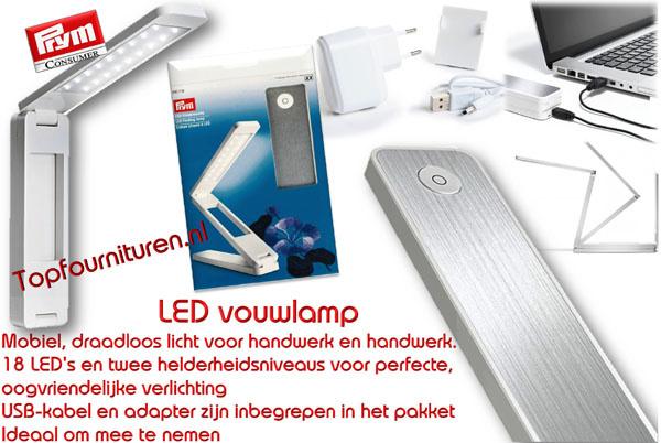 Led klaplampje 220v/USB oplaadbaar.