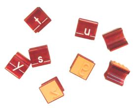 Letter Stempeldoos - Schrijfletters