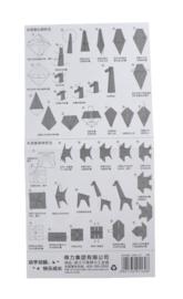 Origami Papier Dierenprint
