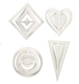 Kartonnen 3D Hangers