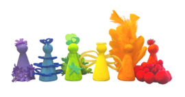 Knutsel Idee - Regenboog Poppetjes