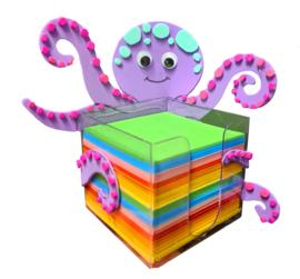 KnutselWerkblad - Papierhouder Octopus