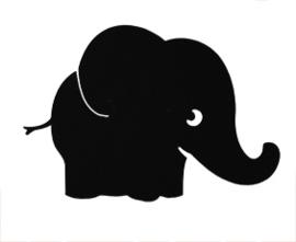 KrijtBord Folie Olifant