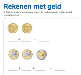 Werkblad Rekenen met Geld