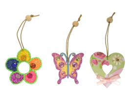 3 Houten Lente Hangers