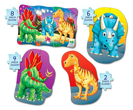 4-in-1 Puzzel Dino's