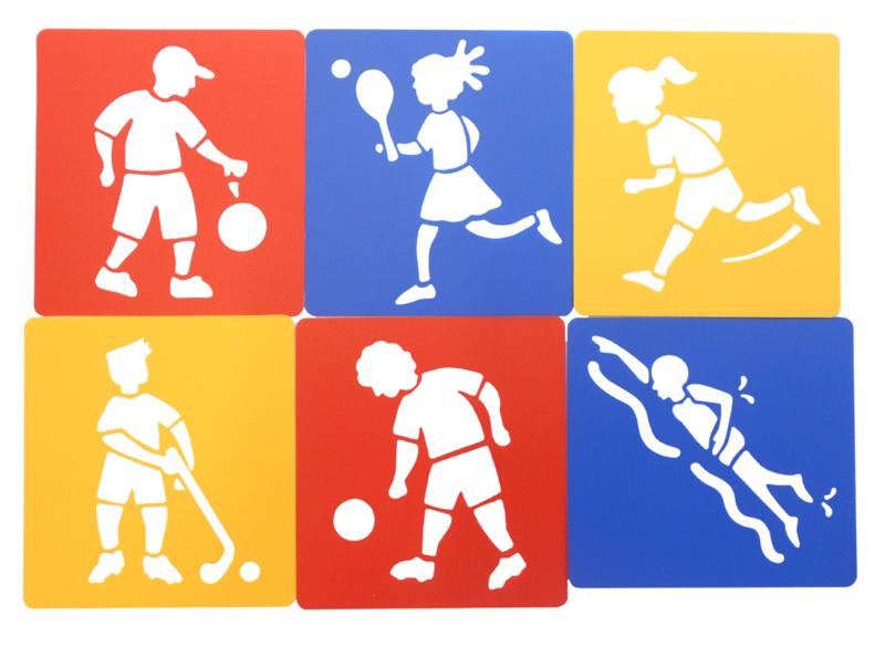 Sjablonen Sport en Spel
